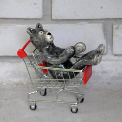 Bear in Shopping Cart (part of Creative Directions show)