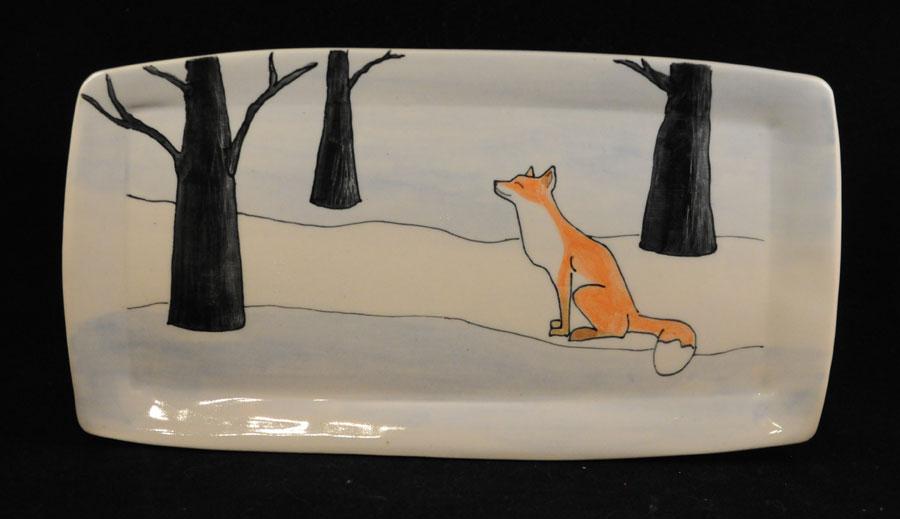 fox in the woods platter
